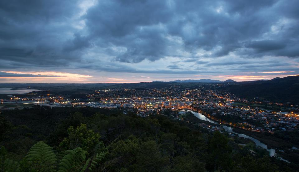 Whangarei City dusk-
